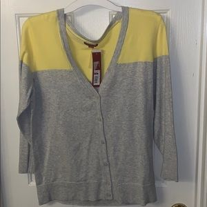 Gray and yellow Cardigan